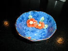 VINTAGE SIGNED CHINESE PORCELAIN HANDPAINTED SWIRL PATTERN BLUE BOWL