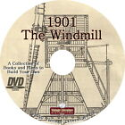 Agricultural Windmill Water Pump Book { 1901 How To  Plans } on DVD