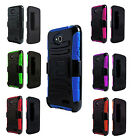 Rugged Hard Case Cover Kickstand Holster Clip For ZTE Speed N9130 Boost Mobile