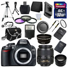 Nikon D3100 Digital SLR DSLR Camera + 3 Lens 18 55mm + 32GB KIT