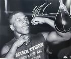 Mike Tyson Speed Bag Signed Autographed Rare 16x20 Photo JSA Authenticated