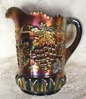 Carnival Glass Northwood Amethyst  Grape & Cable Pitcher