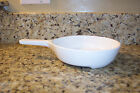 CORNING WARE ALL WHITE BROWNING DISH  SKILLET MW-83-B MICROWAVE