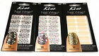 KISS FASHION NAIL WRAPS STICK ON JEWELED EASY 18 STRIPS CHOOSE FROM 3 MODELS