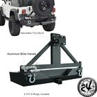 87-06 Jeep YJ TJ Wrangler Heavy Duty Rock Crawler Rear Bumper+TIRE CARRIER+Handl