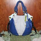 orYANY Pebble Leather Colorblock Victoria Large Hobo Dove Multi NWT
