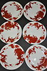 Lot of 6 Fitz & Floyd Red TEMPLE DRAGON 6 1/2