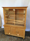 Mid-Century Glass Front China Cabinet/Hutch