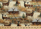 Wild Wings Walnut Grove Deer Buck Scenic Cotton Fabric Print by the Yard D575.44