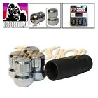 4 LOCK GORILLA ACURA HONDA BALL RADIUS STOCK OEM WHEELS LUG NUTS M 14X1.5 CHROME