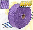 30Ft X 2 X 15mm Fiberglass Heat Wrap Shield Cover Exhaust Down Pipe Kit Purple