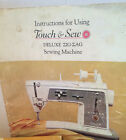 Singer Touch & Sew Instruction Manuel Deluxe Zig-Zag Sewing Machine