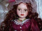 Porcelain Doll 16 inch Curly Redhead By Goldenvale Collection