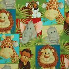 Jungle Babies Large Print 2010 Cotton Quilt Fabric Patty Reed Designs BTFQ