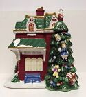 Spode Ceramic Christmas Tree Village Collection Train Station Cookie Jar New