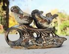 VINTAGE SILVER PLATED SALT & PEPPER SHAKER SET – TWO  BIRDS PERCHED ON BRANCH