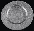 Glass Charger Plate with Rim 13 Coronet Platinum Set of 2