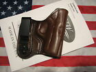 ETW Kimber Solo IWB holster w clip tuckable RHLH dark brown leather NEW