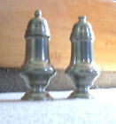 British Pewter Salt  Pepper Shakers
