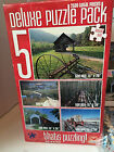 NIB Cardinal Deluxe Puzzle Pack 5-500 Piece Puzzles Color Coded Backs 15