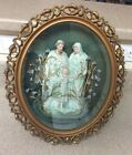 Beautiful Italian Porcelain Figures in a Shadowbox (MM557)