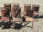 Set of 7 Vintage Antique Wood Wooden Folding Chairs