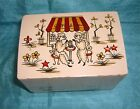 ADORABLE VINTAGE TOKIWA POODLES SIPPING A STRAW JEWELRY MUSIC BOX WORKS JAPAN