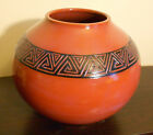 Southwest Style Pottery Vase Hand Made Signed Jill Moodie-Second Wind Pottery
