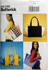 Butterick Sewing Pattern 6188 Large  HANDBAG PURSE TOTE BAG ** NEW**