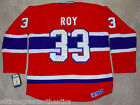 PATRICK ROY SIGNED MONTREAL CANADIENS HABS #33 JERSEY w COA HALL OF FAME GOALIE