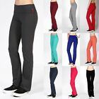 Soft Comfy YOGA PANTS Flare Bottom Foldover Waist Gym Athletic Lounge S 3X