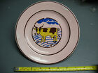 SCHRAMBERG PINK  PLATE  WITH YELLOW  COW # 8 EXLNT COND
