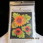 Sunflower Thread Paint Quilt Pattern Embellishment Village Laughing Cat Design
