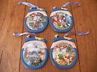 Winnie the Pooh 4-Lot Disney Hanging Collectible Ornaments Bradford Editions