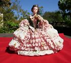 Dresden   Germany  German   statue  LARGE  lace Victorian  figurine  Violin