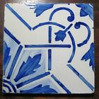 Blue Antique Vintage Portuguese Decorative Tile - Olaria Fabric, Aveiro