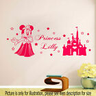 Girls wall stickers for bedroom Minnie Mouse Personalised Princess wall sticker