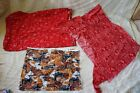 lot western print bandana material & horse pattern fabric quilting crafts decor