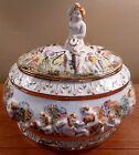 Vintage large Capodimonte lidded tureen or serving bowl - Excellent condition