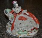 Nice Collectible Dresden Lace Lady on Recamier Figurine , marked 5.5