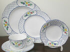 Herend Village Pottery Lattice hand painted 1-5pc. place setting new