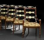 SET OF 4 RUSSIAN NEOCLASSIC MAHAGONY GILT CHAIRS C.1820