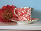 ROYAL CROWN DERBY ORIENTAL PORCELAIN CERAMIC TEACUP AND SAUCER, RETIRED 1977
