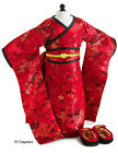 Doll Clothes AG 18 Kimono Red Blossom by Carpatina Made For American Girl Doll