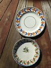Pratt colors on scalloped edge plates, early 19th century 1 perfect, 1 not