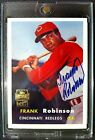 2001 Topps Archives FRANK ROBINSON Reprint RC certified *SSP* AUTOGRAPH REDS