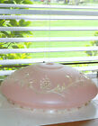 Art Deco Ceiling Light Fixture Shade Chandelier Pink Clear Glass Grapes 11 1/2