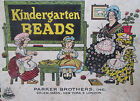 RARE old Early 1900's PARKER Brother's New York KINDERGARTEN BEADS Game Playset
