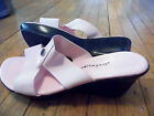 CLOUD WALKERS LADIES PINK T-STRAP OPEN TOE HEEL SANDALS..SZ 12 W