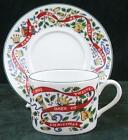 ROYAL WORCESTER - FINE PORCELAIN - THE TWELVE DAYS OF CHRISTMAS - CUP AND SAUCER